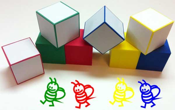 骰子 顏色 黄色 綠色 紅色 藍色 玩具 教具