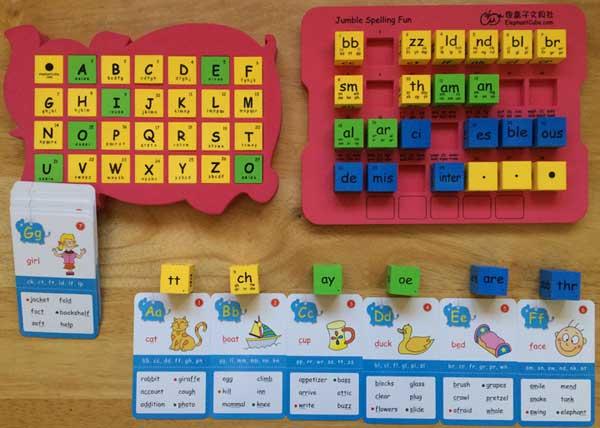 國小英語教學 英文拼字骰子 字母字群骰子
