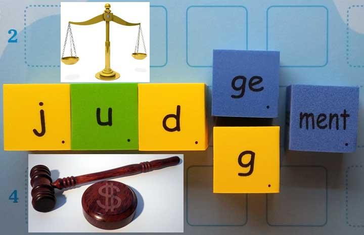 判斷 評論 judgement vs judgment 判決 裁判