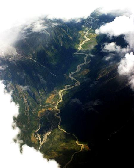 西藏攝影圖片 - 攝影圖片:航拍西藏 - 美景旅遊網