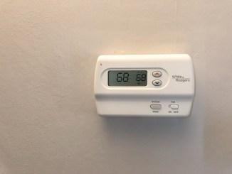 White Thermostat Tan Background Twat News