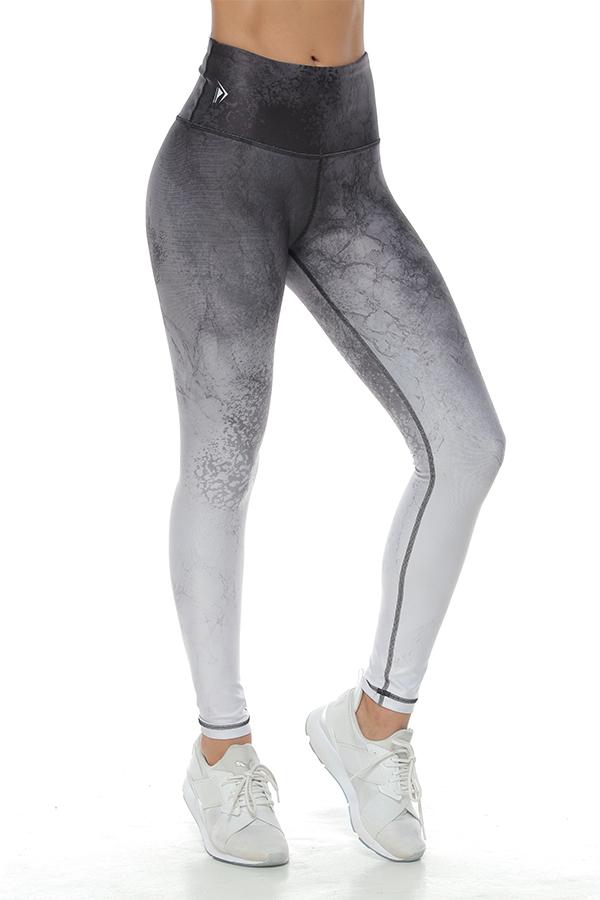 Gray Dissipated Legging