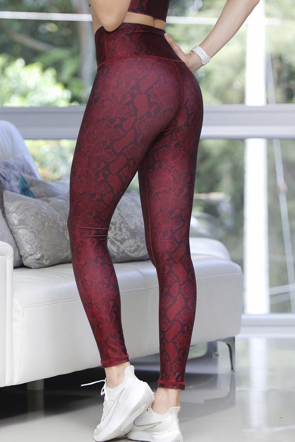 Legging Wine Print