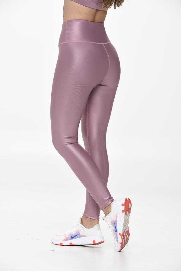 Leather Look Grape Legging
