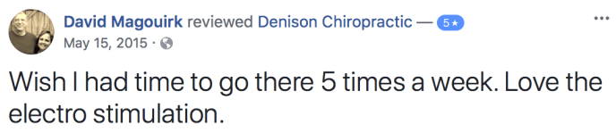 Denison Chiropractic Neck Pain