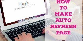 How to make auto refersh page
