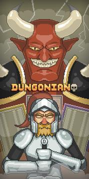 Dungonian: Pixel card puzzle dungeon poster