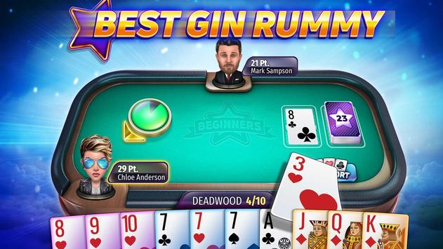 Gin Rummy Stars - Online Card Game with Friends! poster