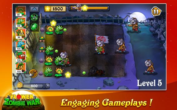 Flower Zombie War screenshot 1