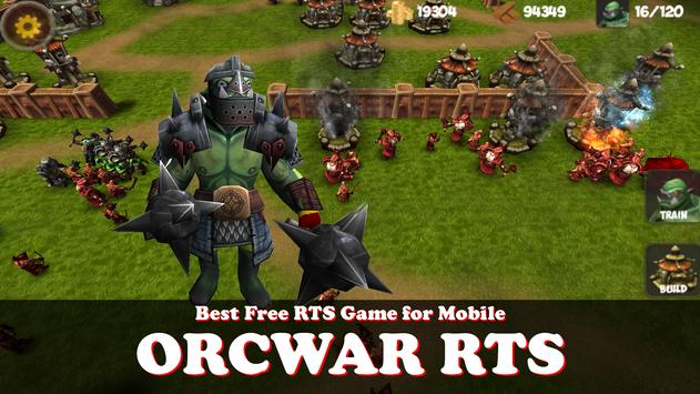 OrcWar Clash RTS poster