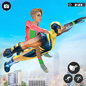 Flying Hero Light Speed Robot-City Rescue Mission icon