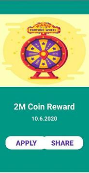 Daily free Spin and Coin for CM screenshot 1