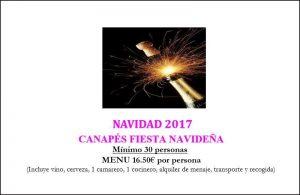 Menu Navideño 2017