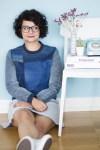 Refashion: Sweatshirt aus alten Jeans mit Shashiko Details - Jeans entschleunigt