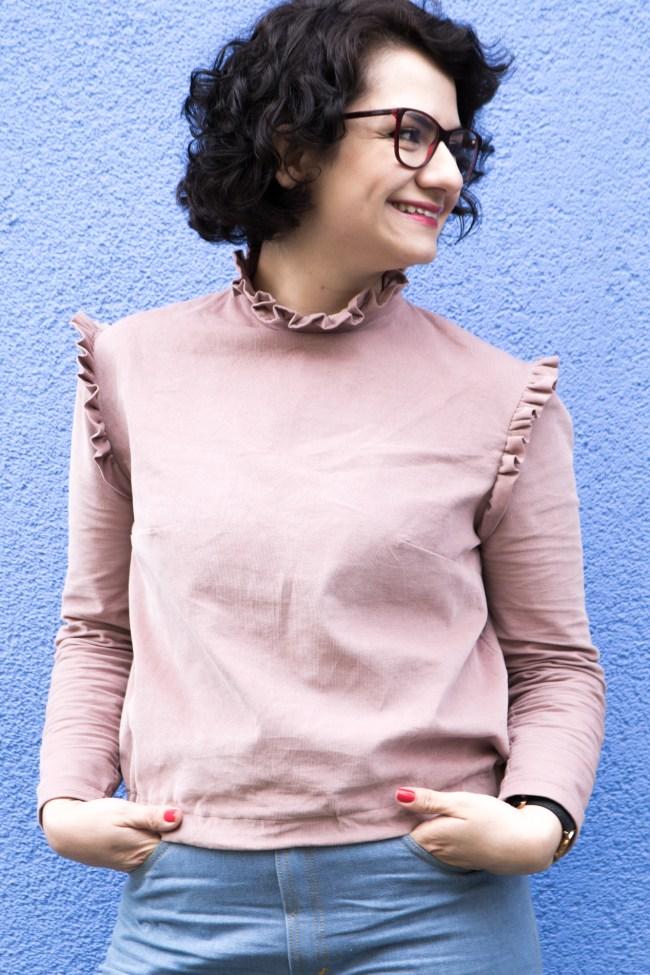 Rüschenbluse Dahlia by Dessine Moi un Patron - Tweed & Greet