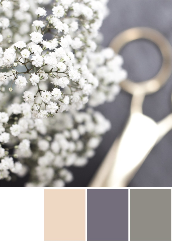Farbkombinationen mit Weiß, Grau und Gold - Tweed & Greet