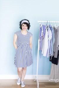 Zadie, Zadie, Streifenlady: Blau-weißes Streifenkleid für den Sommer