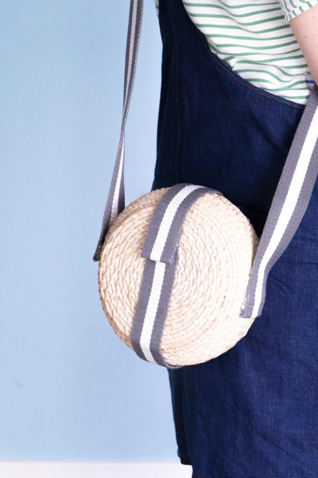Korbtasche mit Taschengurt selbermachen - Tweed & Greet