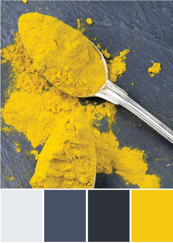 Farbpalette Grau - Lila Gelb -Tweed & Greet