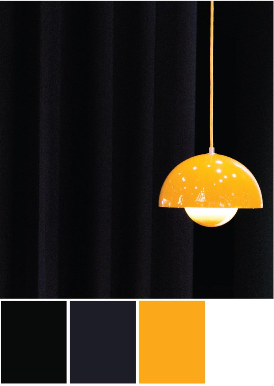 Farbkombination Schwarz Orange - Tweed & Greet