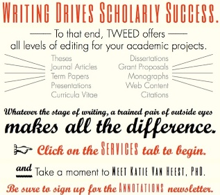 New Tweed Academic Editing Home Page