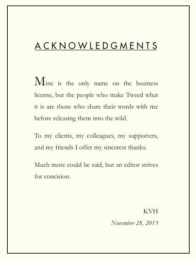 Acknowledgments page