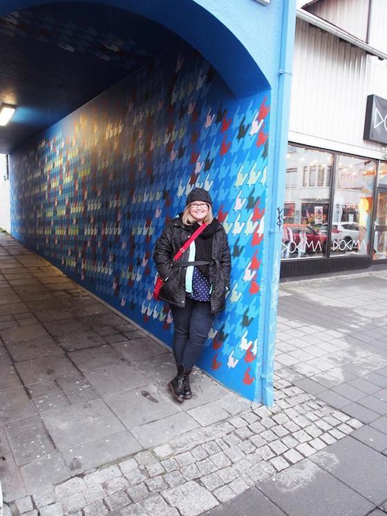 I found a houndstooth wall in Reykjavík