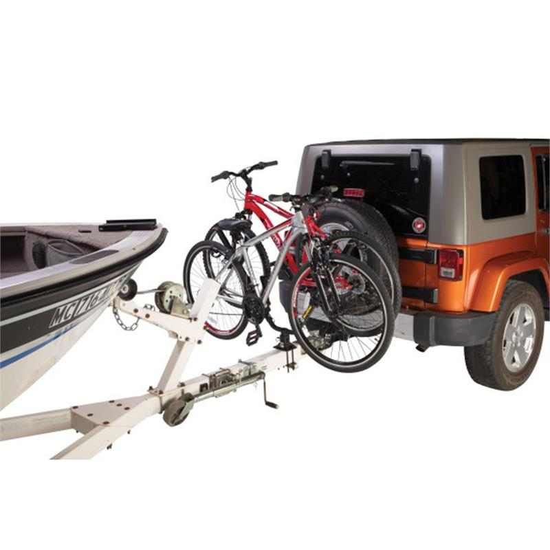 lippert 731138 hitch it double bike carrier system attaches to trailer tongue tube