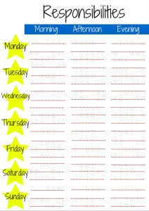 Responsibilities For a Six Year Old + Printable Chart