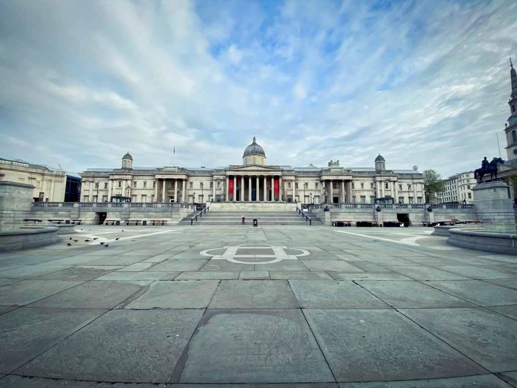 s'expatrier à Londres : Trafalgar Square