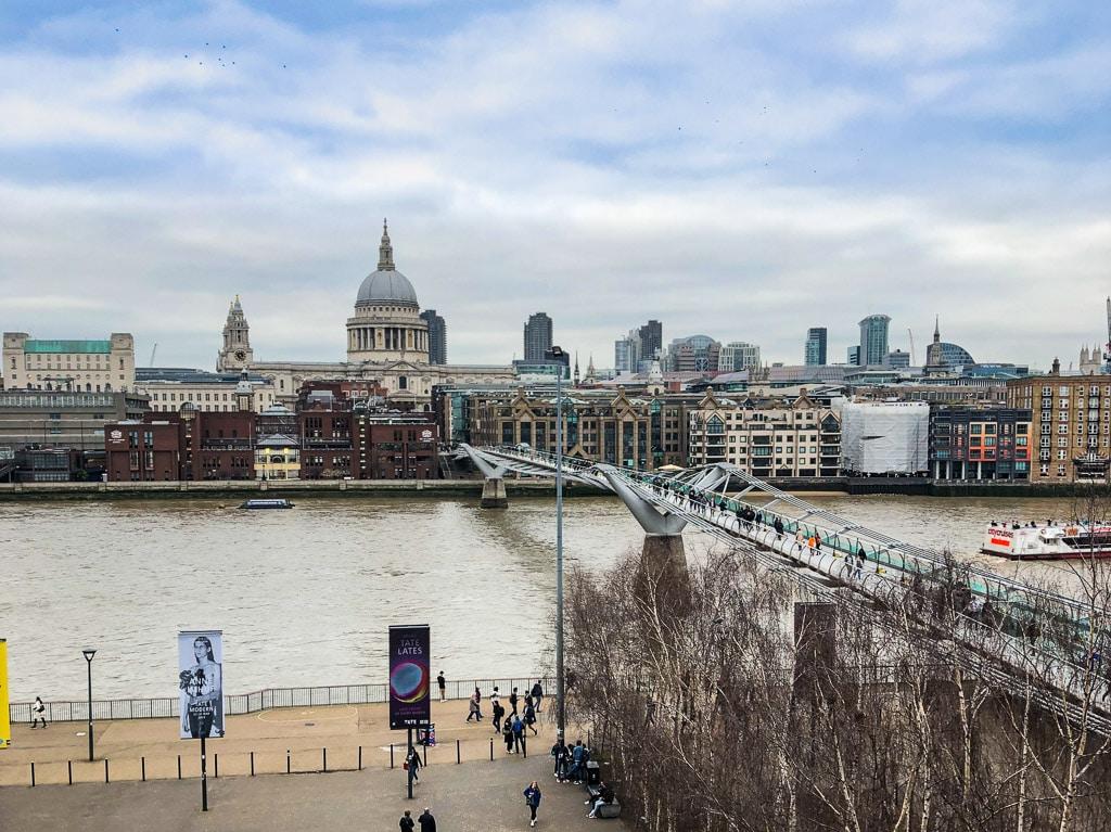 Meilleures vues gratuites sur Londres : 4ème étage Tate modern