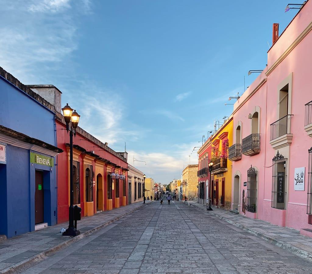rue principale de Oaxaca de Juarez