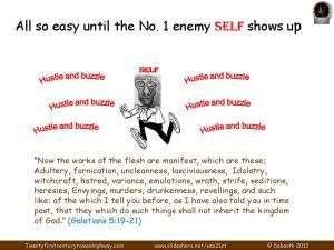 PIC self hussle justification of man