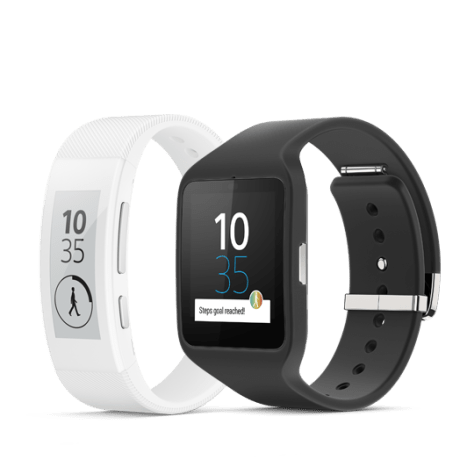 From left: Smartband Talk and Smartwatch 3
