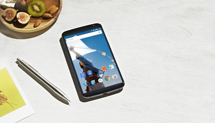 The Nexus 6 was not very stable on a flat surface
