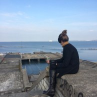 Pondering whilst staring across the Harbour into the Gulf of Finland