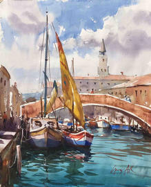 Boats at Chioggia, Greg Allen