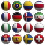 Russia2018 flags