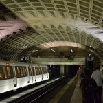 Metro station in Washington DC