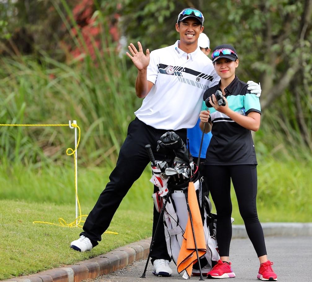 Arie Irawan and wife Marina Malek