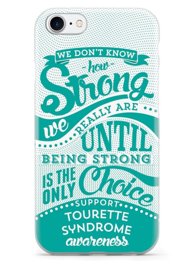 Tourette awareness phone casing