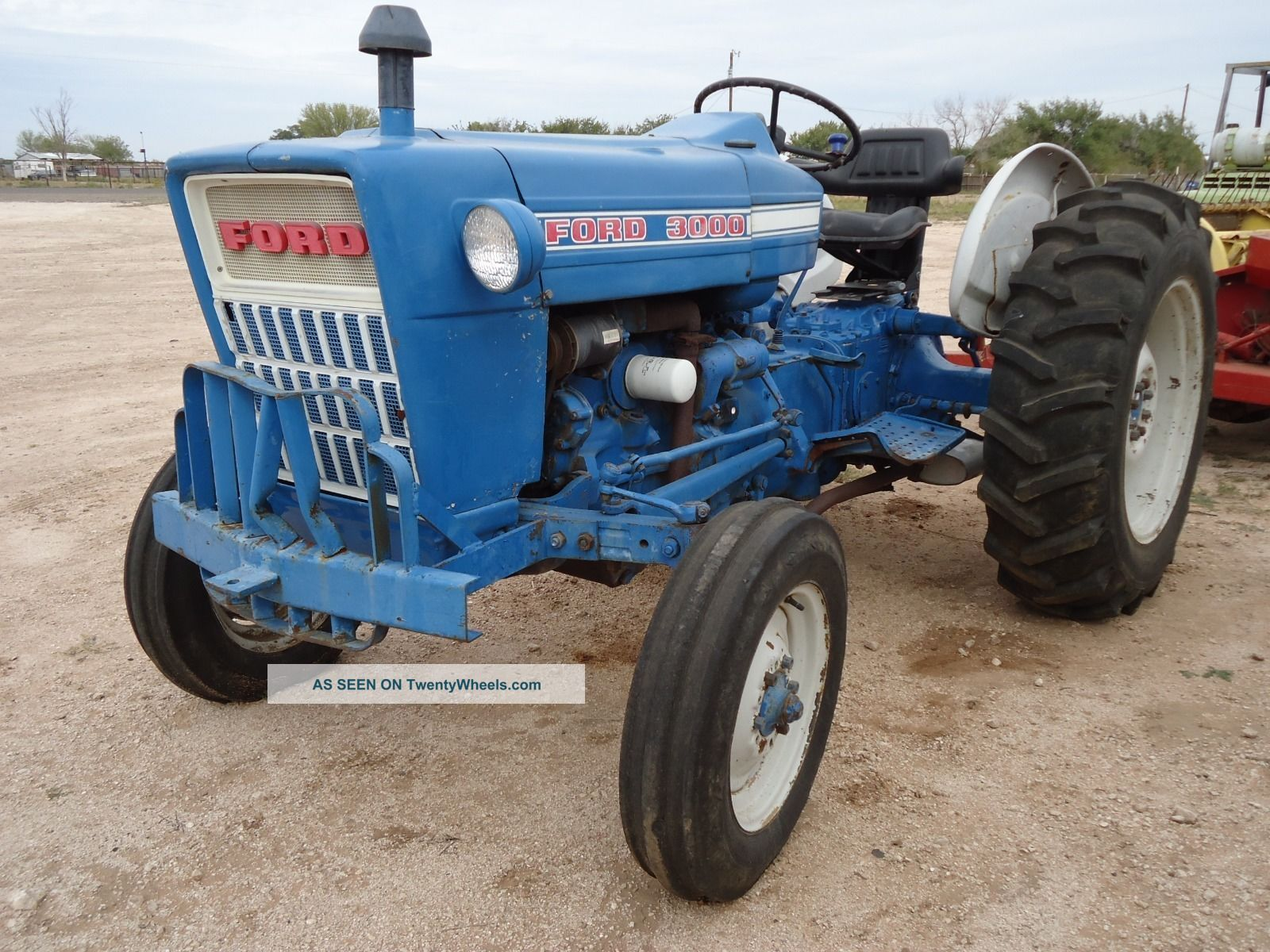 The numbers we need to identify your tractor are stamped into the metal on a flat spot just above and behind your starter. 3000 Ford Diesel Tractor