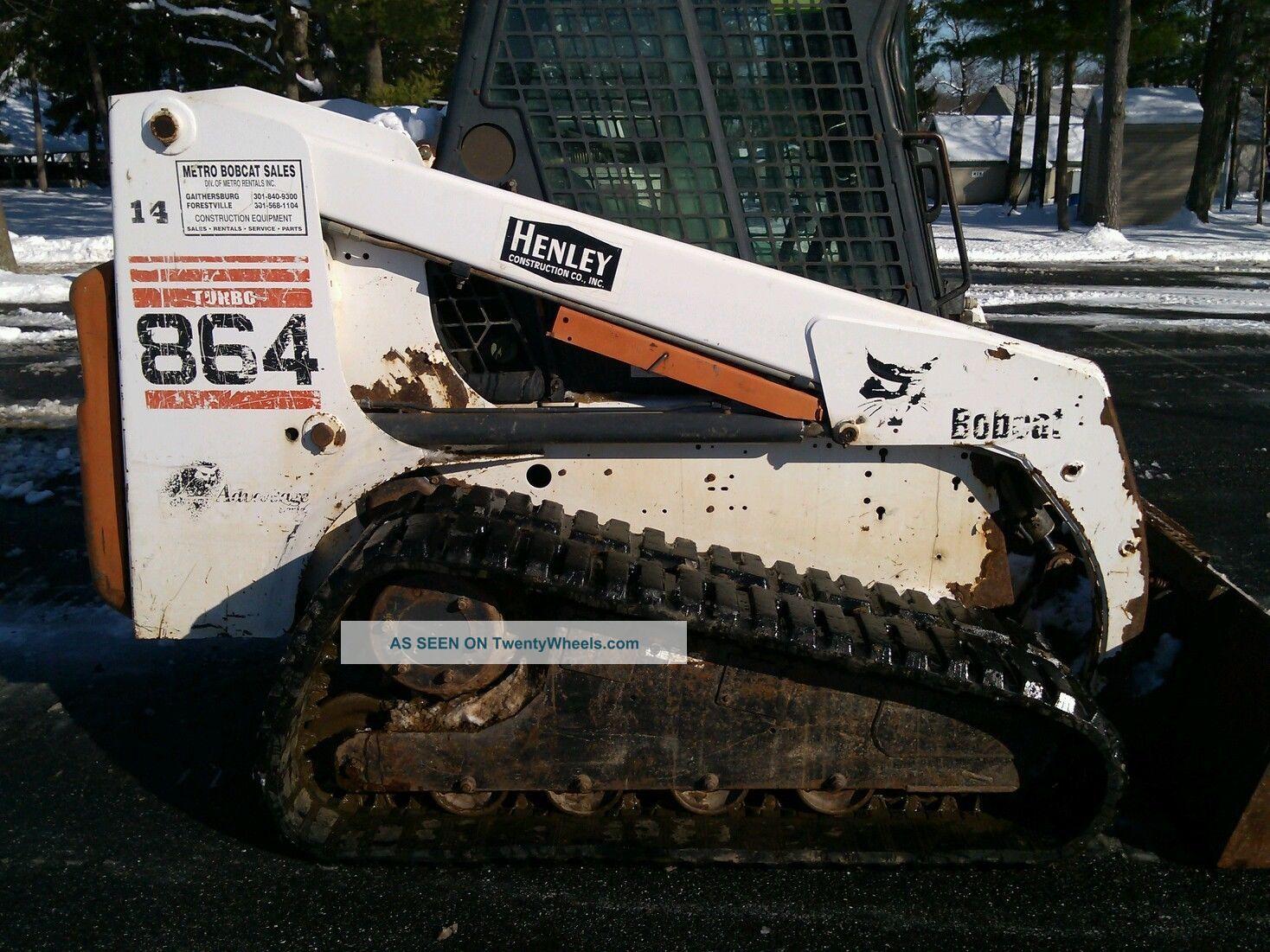 Bobcat 864g Track Loader Skid Steer Wide Tracks