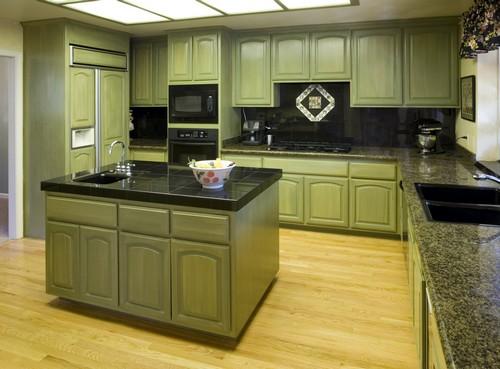 Grön färg i köket