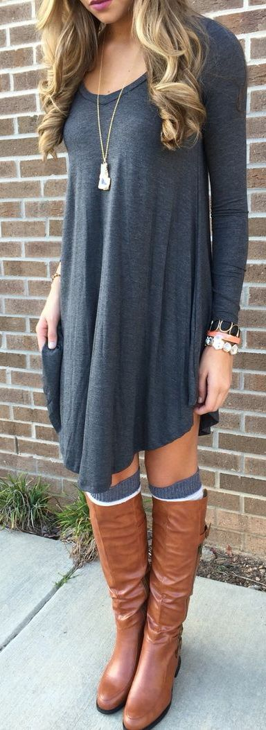 dress-with-tall-boots