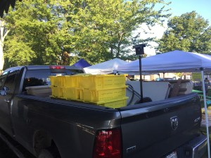 a truckload of produce at the farmers' market