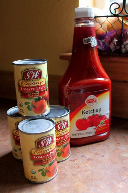 Tomato paste and ketchup