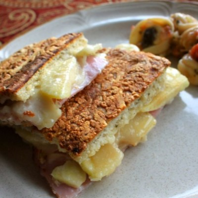 Black forest ham and Apple paninis