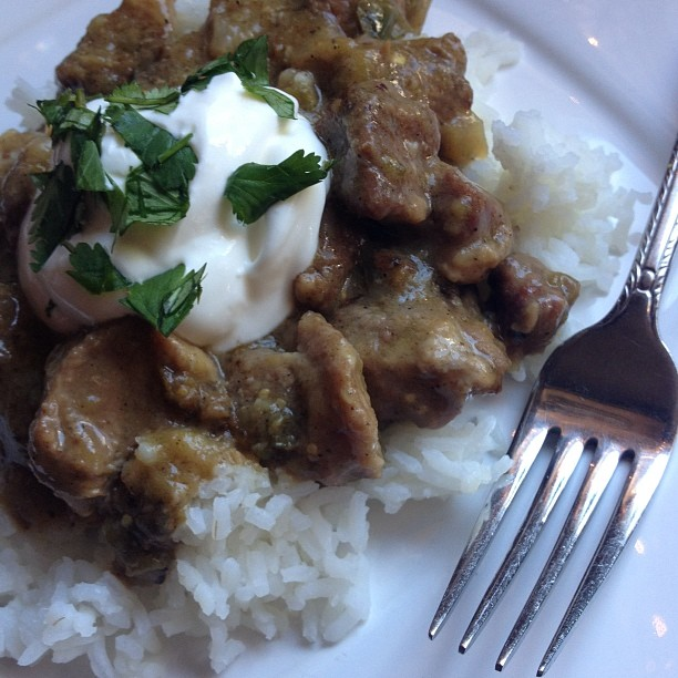 Crock Pot (or Not) Pork Tomatillo Stew
