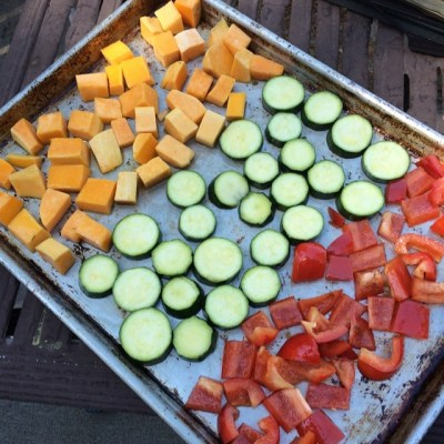 Roasted Veggies with a Spicy Cashew Cream … and a peek at Tahoe